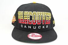 Vancouver Canucks Fade Snap Black Red Yellow NHL New Era 9Fifty Snapback Hat