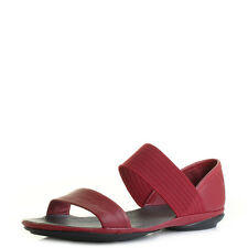 Womens Camper Right Nina Red Leather Flat Durable Elasticated Sandals UK Size