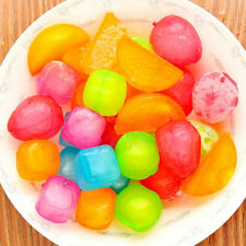 6Pcs/Set Plastic Reusable Ice Cubes Coloured Party Cool Cold Drinks Bar 2 Style