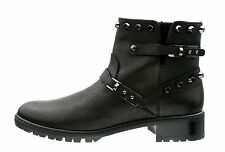 Stuart Weitzman Black Go West Studded Leather Ankle Boot