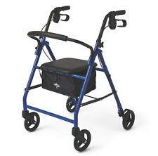 Medline Rollator Walker Adult Senior Walker with Wheels and Padded Seat - NEW!