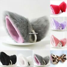 New Cosplay Party Cat Fox Long Fur Ears Anime Neko Hair Clip Orecchiette ONMF
