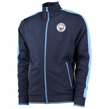 Manchester City Mens Gents Football Classic Tricot Track Jacket Top - Navy