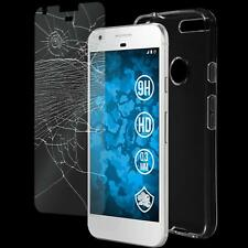 Silicone Case Transparent Crystal Clear + 1 Protection Film Tempered Glass Clear