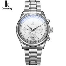 Men's Automatic Watch Luminous Stainless Steel Multifunction Sub Dial Date Watch