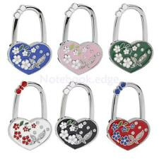 1 x Fashion Heart Flower Folding Tote Bag Handbag Purse Table Hook Hanger Holder