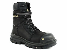 """Caterpillar MORTISE 8"""" WP CT Men's Work Black Leather Boots"""