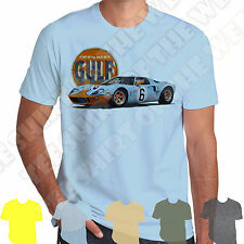 Ford Gt40 Le Mans Racing is Life retro T-shirt 100% Cotton 7 colours to choose