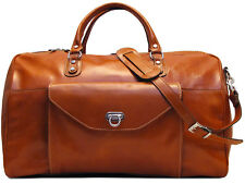 "Floto Imports Luggage 22"" Monteverde Travel Duffle Bag, Italian Calfskin Leather"
