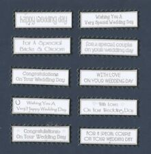 10 Wedding Day Greeting Card Craft Scrapbook Sentiment Banners**Colour Options