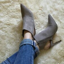 NEW ZARA GREY SLINGBACK BOOTIE HIGH HEEL ANKLE BOOTS! BLOGGERS! SOLD OUT!