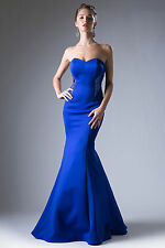 NEW Strapless Sweetheart Tight Mermaid Formal Dress in Navy, Cobalt, Red Sz 8-18
