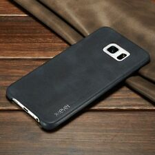 Vintage Ultra-thin Back Leather Case Cover Skin For Samsung Galaxy iPhone LG
