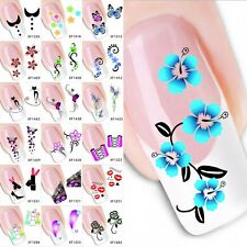 Beauty Nail Art Sticker Water Transfer Stickers Decoration Flower Decal Tips DIY