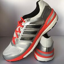 Adidas Supernova Sequence 7 Mens Running Shoes Size 9 White Silver Black £59.99
