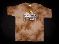 NWT $32 Boutique Charlie Rocket 6 Tee Shirt Top Tie Dye Brown Surf Beach Ocean