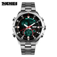 Mens Sport Military Digital Date Chronograph Alarm Analog Wrist Watch Black J8U6