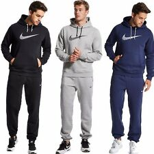 Mens Full Tracksuit Fleece Hooded Jogging Bottms Joggers - S M L XL