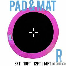 NEW Replacement Trampoline Safety Pink Mat & Pad Round Spare 8ft 10ft 12ft 14ft