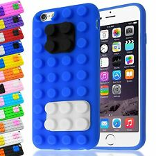 3D BUILDING LEGO BLOCKS BRICK SOFT SILICONE STAND COVER CASE FOR APPLE IPHONE 6S