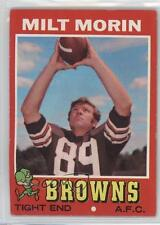 1971 Topps #249 Milt Morin Cleveland Browns RC Rookie Football Card