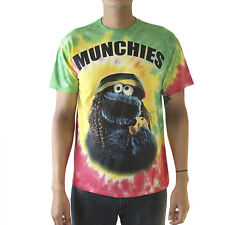 Sesame Street Cookie Monster Munchies Men's MultiColor T-shirt NEW Sizes S-2XL