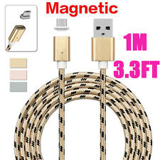 2.4A Tigrina Braided Micro USB Fast Charging Cable & Strong Magnetic Adapter Lot