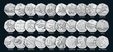 London 2012 Olympic Games Circulated Fifty Pence 50p Coins