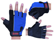 BOOM Prime Leather Cycling Gloves Half Finger Bicycle Padded Fingerless Sports