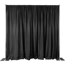 8 Ft High x 10 Ft - 200 Ft Wide Pipe and Drape Kit (WITH DRAPES) - FREE SHIPPING