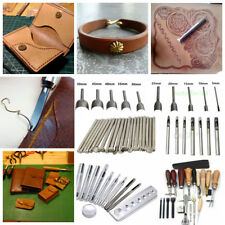 Leather Craft DIY Stamp Hole Punch Stitching Tools, 11 Kind of Tools for Options