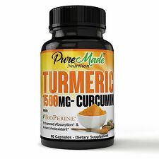 Turmeric Curcumin Supplement with BioPerine Natural Joint Support, Pain Relief..