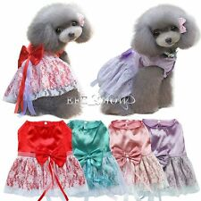 Dog Cat Bow Tutu Dress Lace Skirt Pet Puppy Dog Princess Apparel Clothes Fashion