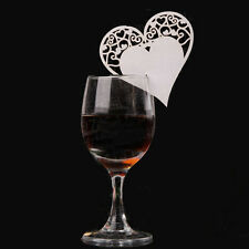 NEW Hollow Love Heart Wine Cup Cards Wedding Party Table Name Place Cards  50pcs