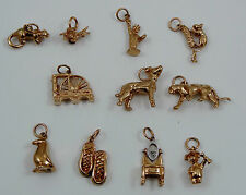 SELECTION of 9CT ROSE GOLD new CHARMS