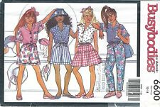 Butterick 6600 Girls' Top, Skirt, Shorts and Pants 12, 14   Sewing Pattern
