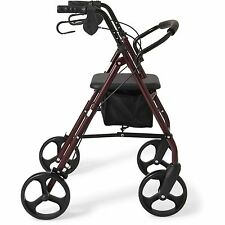 """NEW Rollator 8"""" Casters Rolling Walker Senior Walker with Padded Seat"""