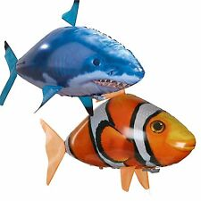 2017Toy Remote Control RC Inflatable Balloon Air Swimmer Flying Nemo Shark Blimp