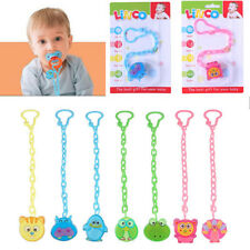 Cartoon Baby Dummy Pacifier Soother Nipple Chain Clip Buckle Holder Toy Chain Ho