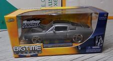 1967 Ford Mustang Shelby GT-500KR Jada Big Time Muscle Gray Black 67 1/24th Grey