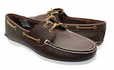 Timberland Classic 2 Eye Mens Boat Deck Leather shoe Chestnut Brown 29574 D82