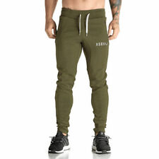 Army Green Sports Gym Casual Pants Jogging Trousers Tracksuit Long Sweatpants