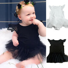 Baby Newborn Girl Romper Toddler Summer Party Tutu Skit Dress For 0-24Month