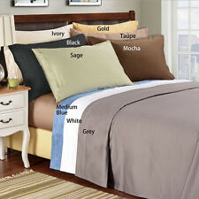 """Hotel Collection 400TC 100% Egyptian Cotton 4PC Sheet Set Solid 6""""Deep Pocket"""