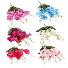 Artificial Butterfly Orchid Silk Flower Bouquet Wedding Party DIY Decor 6 Colors