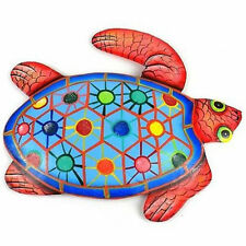 Fair Trade Hand Painted Metal Turtle Haitian Easter Gifts Wall Art Decor