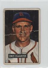 1951 Bowman #58 Enos Slaughter St. Louis Cardinals Baseball Card