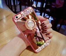 Luxury Bling Diamond Crystal Ring Holder Mirror Case Cover For iPhone 6s 6 7 7+