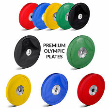 """EXTREME FITNESS® RUBBER BUMPER WEIGHT PLATES COLOURED GYM CROSSFIT OLYMPIC 2"""""""