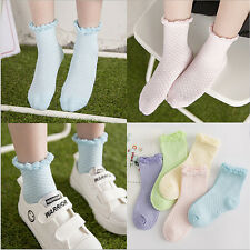 Girls Lace Mesh Cotton Socks For Kids Socks Children Short Socks 5pairs/lot CASL